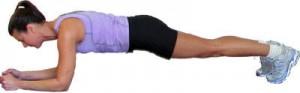 Plank buikspieroefening